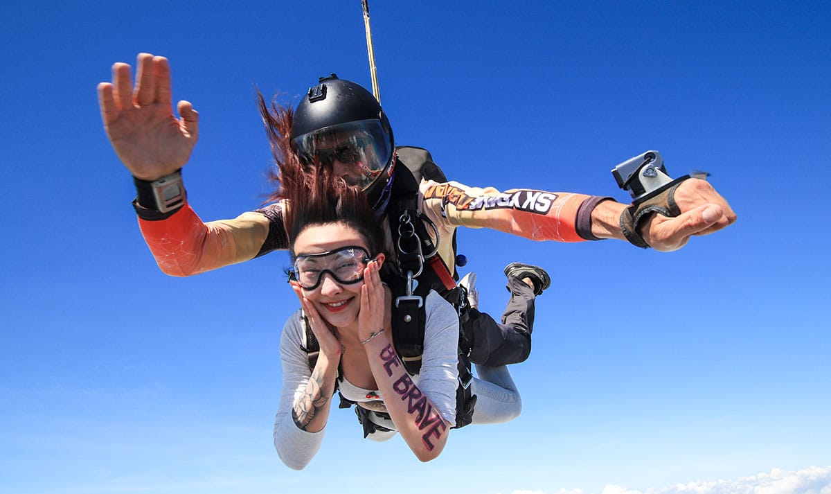 Skydiving in Rayong Thailand
